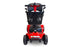 EWheels EW M34 4-Wheel 4-Wheel Travel Scooter red front view