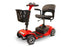 EWheels EW M34 4-Wheel 4-Wheel Travel Scooter red left angle view