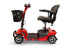 EWheels EW M34 4-Wheel 4-Wheel Travel Scooter red left side view