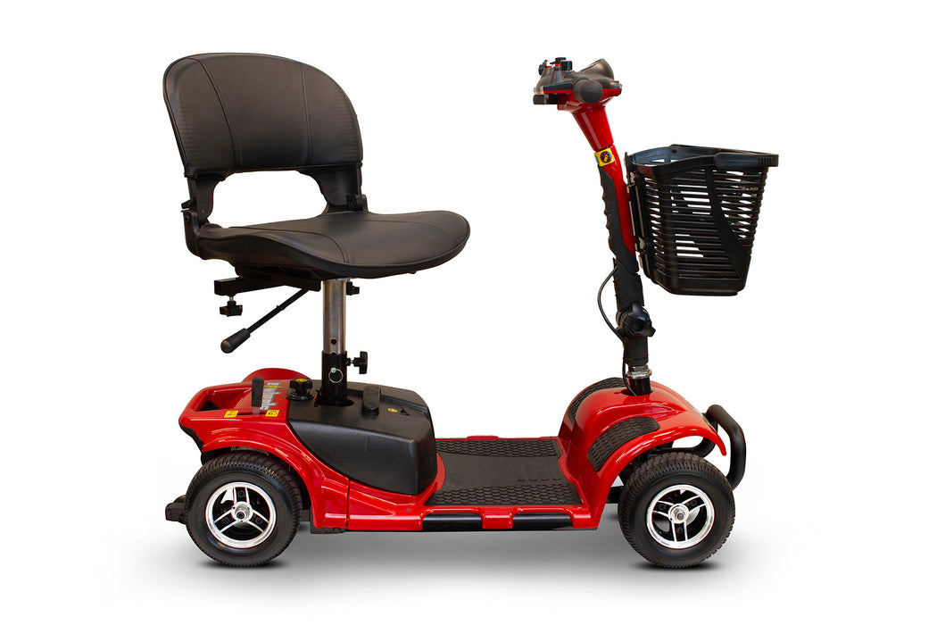 EWheels EW M34 4-Wheel 4-Wheel Travel Scooter red swivel seat