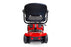 EWheels EW M34 4-Wheel 4-Wheel Travel Scooter red rear view