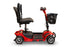 EWheels EW M34 4-Wheel 4-Wheel Travel Scooter red armrests folded up