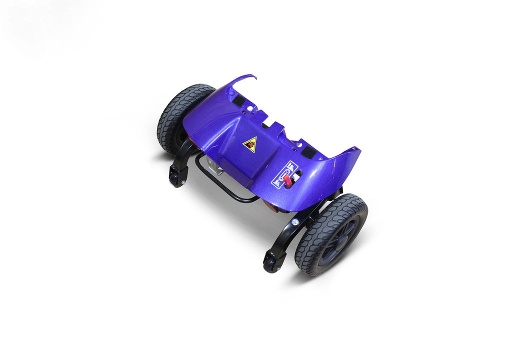 EWheels EW M35 4-Wheel Travel Scooter blue rear part