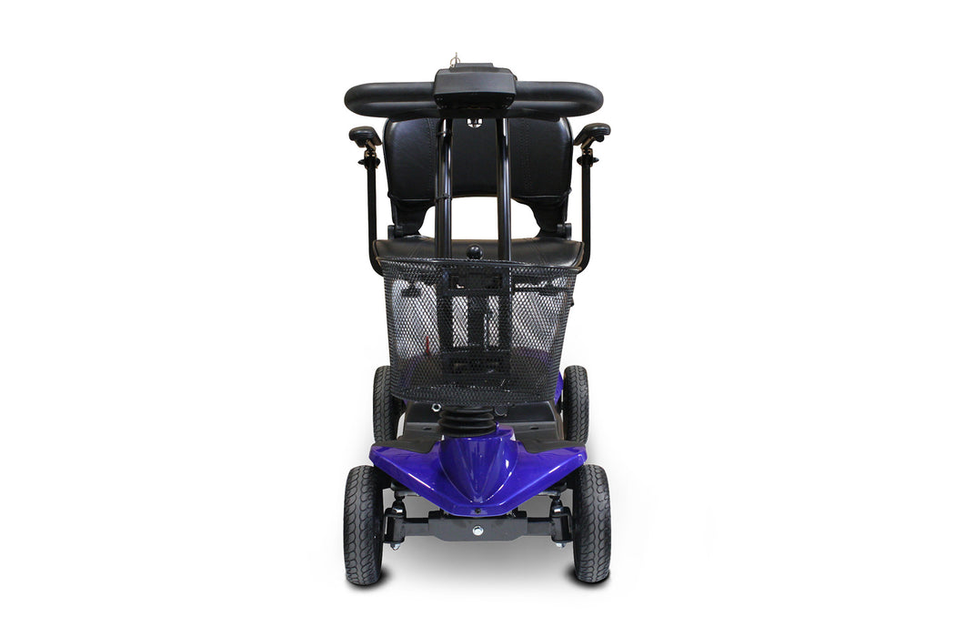 EWheels EW M35 4-Wheel Travel Scooter blue front view