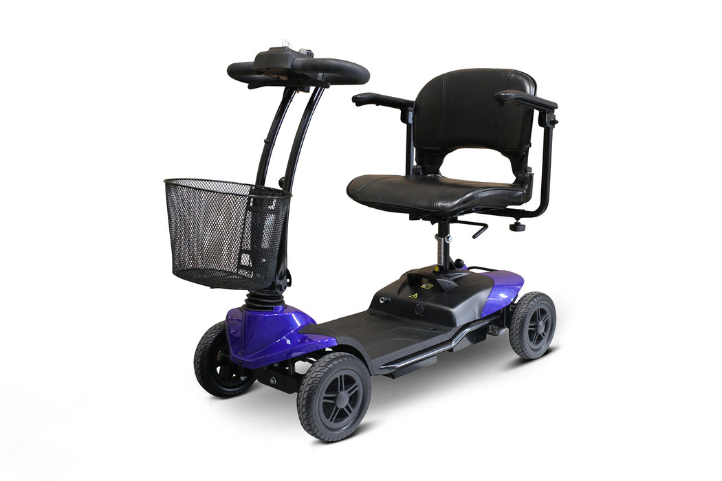 EWheels EW M35 4-Wheel Travel Scooter blue left angle view