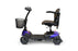 EWheels EW M35 4-Wheel Travel Scooter blue left side view