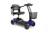 EWheels EW M35 4-Wheel Travel Scooter blue right angle view