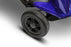 EWheels EW M35 4-Wheel Travel Scooter blue rear wheel