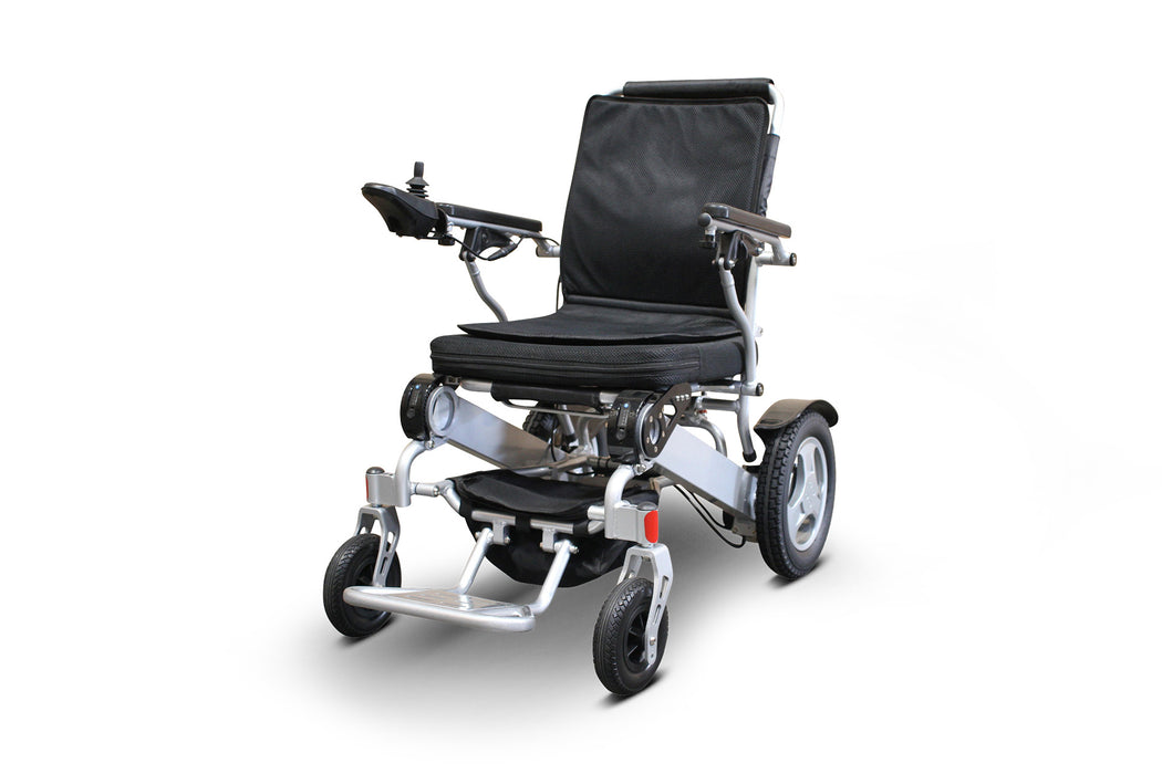 Ewheels EW M45 Folding Power Chair left angle view