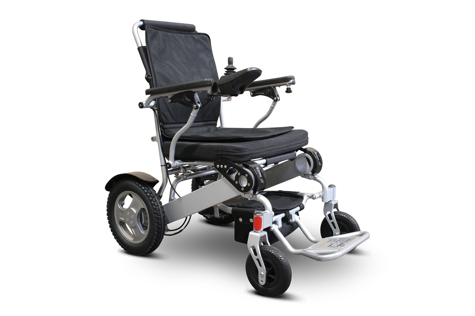 Ewheels EW M45 Folding Power Chair right angle view