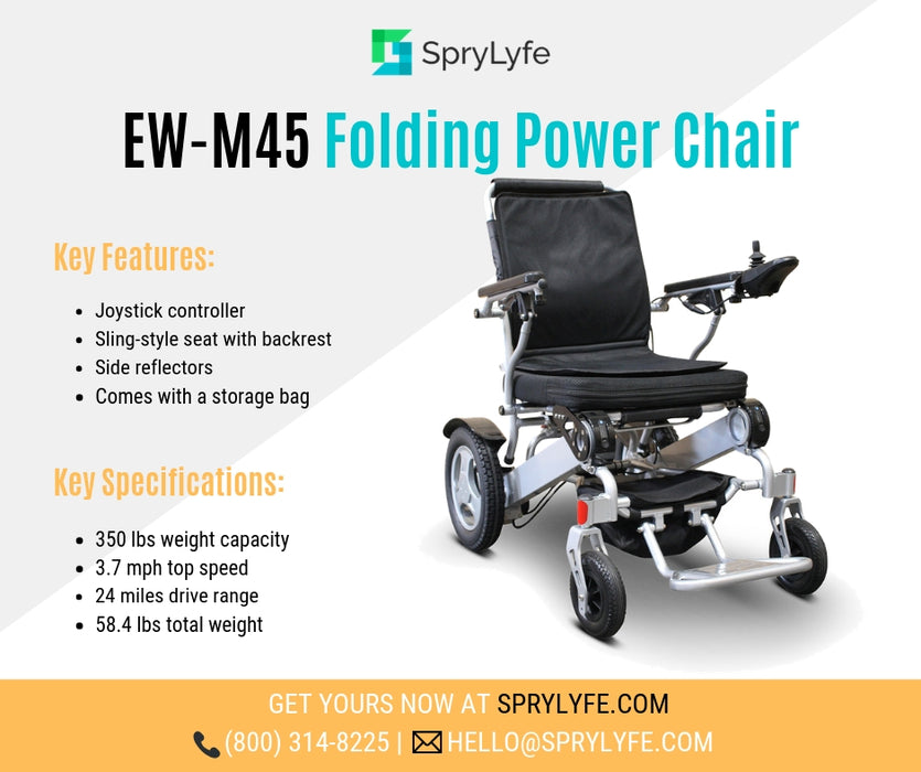 Ewheels EW M45 Folding Power Chair brochure