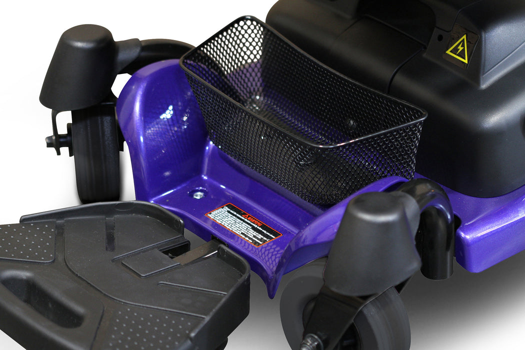 EWheels M81 4-Wheel Power Chair blue storage basket
