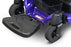 EWheels M81 4-Wheel Power Chair blue foot rest