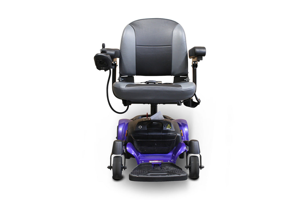 EWheels M81 4-Wheel Power Chair blue front view