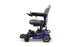 EWheels M81 4-Wheel Power Chair blue left side view
