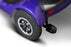 EWheels M81 4-Wheel Power Chair blue rear wheel and anti-tip wheel