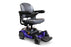 EWheels M81 4-Wheel Power Chair blue right angle view