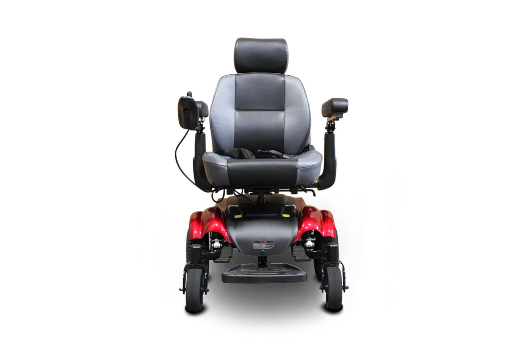 EWheels EW M82 Mid-Wheel Drive Power Chair Red front view