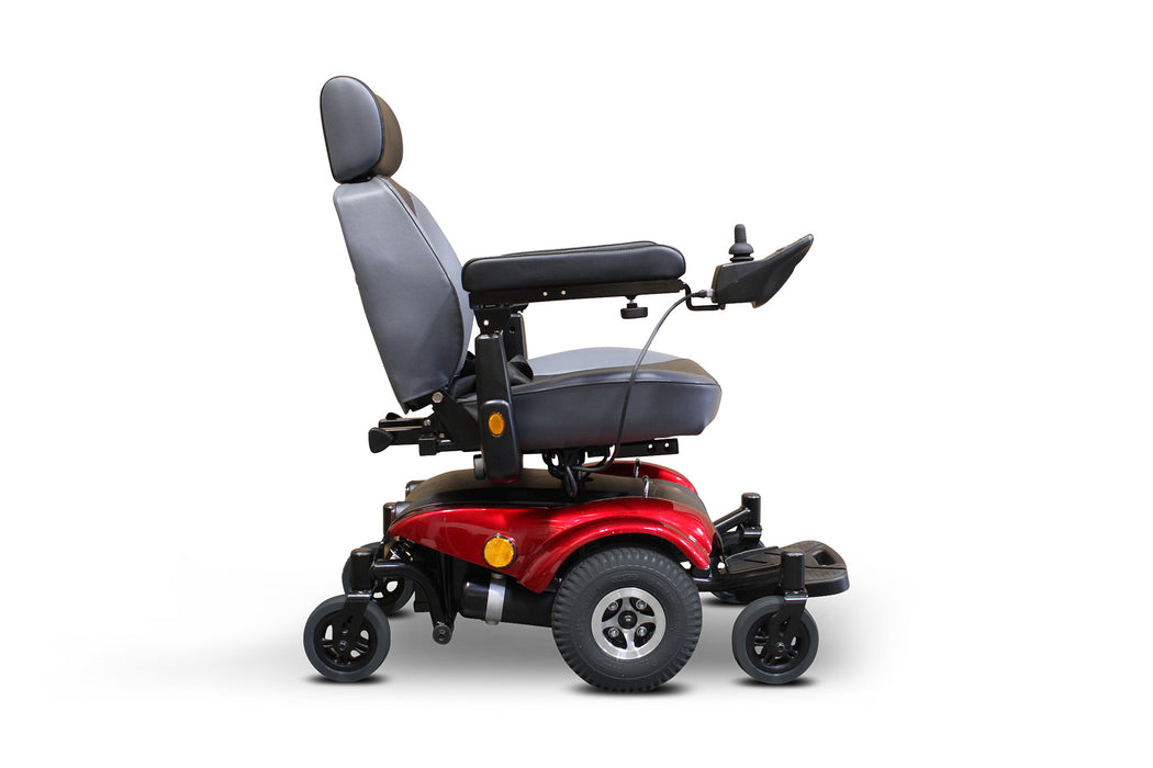 EWheels EW M82 Mid-Wheel Drive Power Chair Red right side view