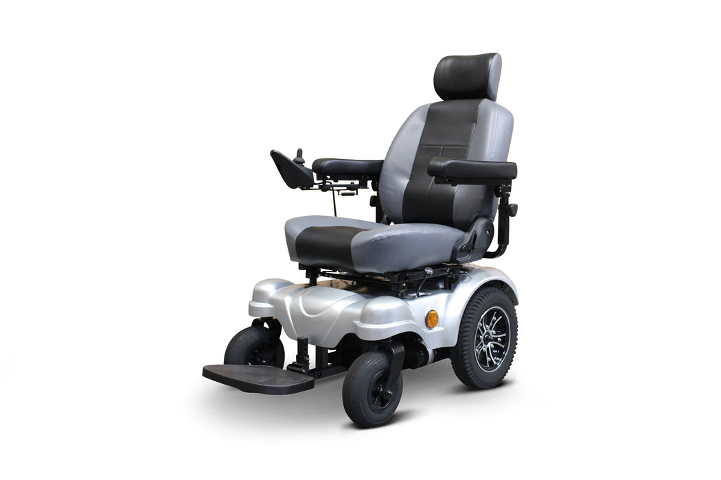 EWheels EW M83 4-Wheel Power Chair left angle view