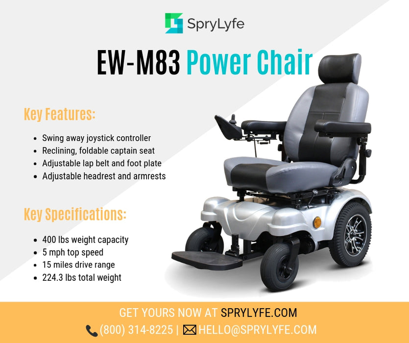 EWheels EW M83 4-Wheel Power Chair brochure