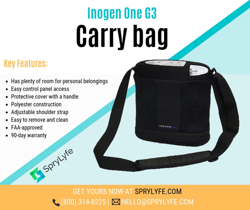 Inogen One G3 carry bag list of key features