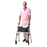 Man using Stander EZ Fold-N-Go Walker Walnut Black