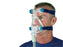 Man wearing ResMed Ultra Mirage Full Face CPAP Mask with headgear