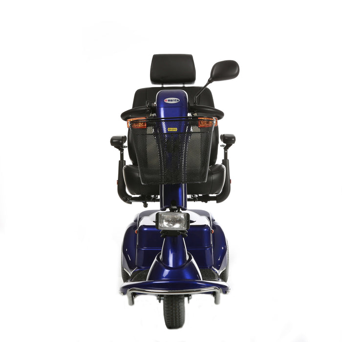 Merits Health S131 Pioneer 3 3-Wheel Mobility Scooter front view