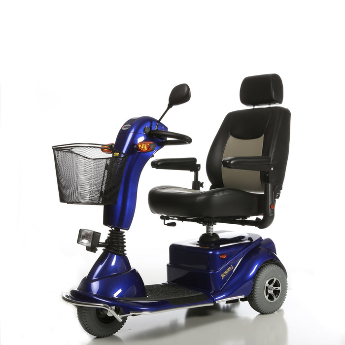 Merits Health S131 Pioneer 3 3-Wheel Mobility Scooter left angle view