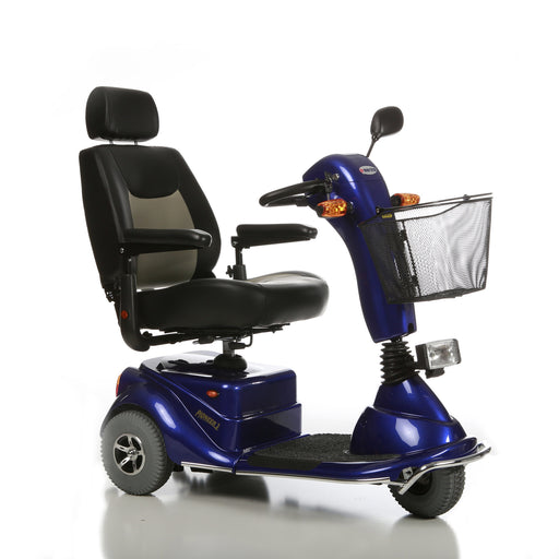Merits Health S131 Pioneer 3 3-Wheel Mobility Scooter right angle view