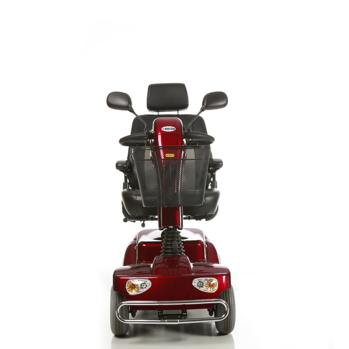 Merits Health S141 Pioneer 4 4-Wheel Mobility Scooter red front view