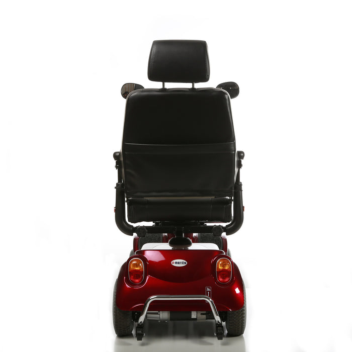 Merits Health S141 Pioneer 4 4-Wheel Mobility Scooter red rear view