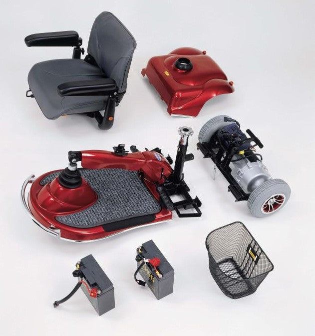 Merits Health S235 Pioneer 1 3-Wheel Mobility Scooter disassembled parts