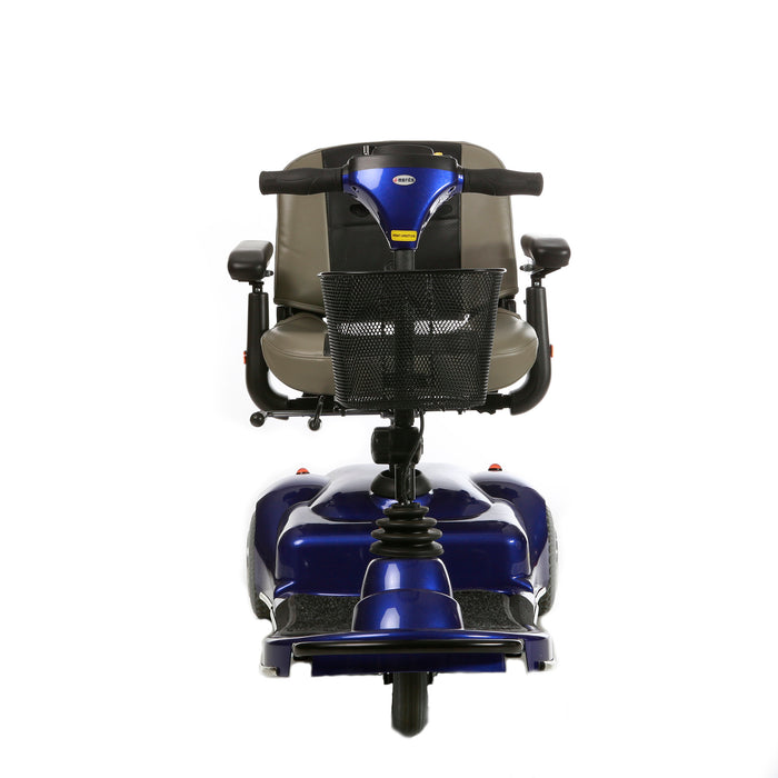 Merits Health S235 Pioneer 1 3-Wheel Mobility Scooter blue front view