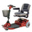 Merits Health S235 Pioneer 1 3-Wheel Mobility Scooter red left angle view