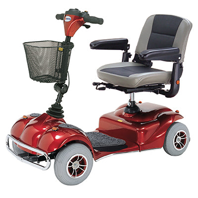 Merits Health S245 Pioneer 2 4-Wheel Travel Scooter left angle view