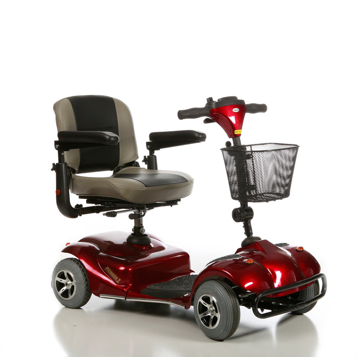 Merits Health S245 Pioneer 2 4-Wheel Travel Scooter right angle view