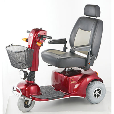 Merits Health S331 Pioneer 9 3-Wheel Heavy-Duty Scooter left side view