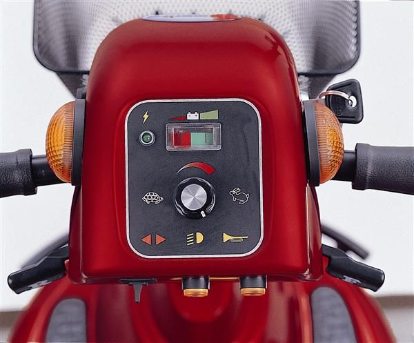 Merits Health S341 Pioneer 10 Heavy-Duty Mobility Scooter dashboard top view