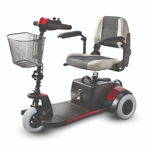 Merits Health S539 Mini-Coupe 3-Wheel Mobility Scooter left angle view