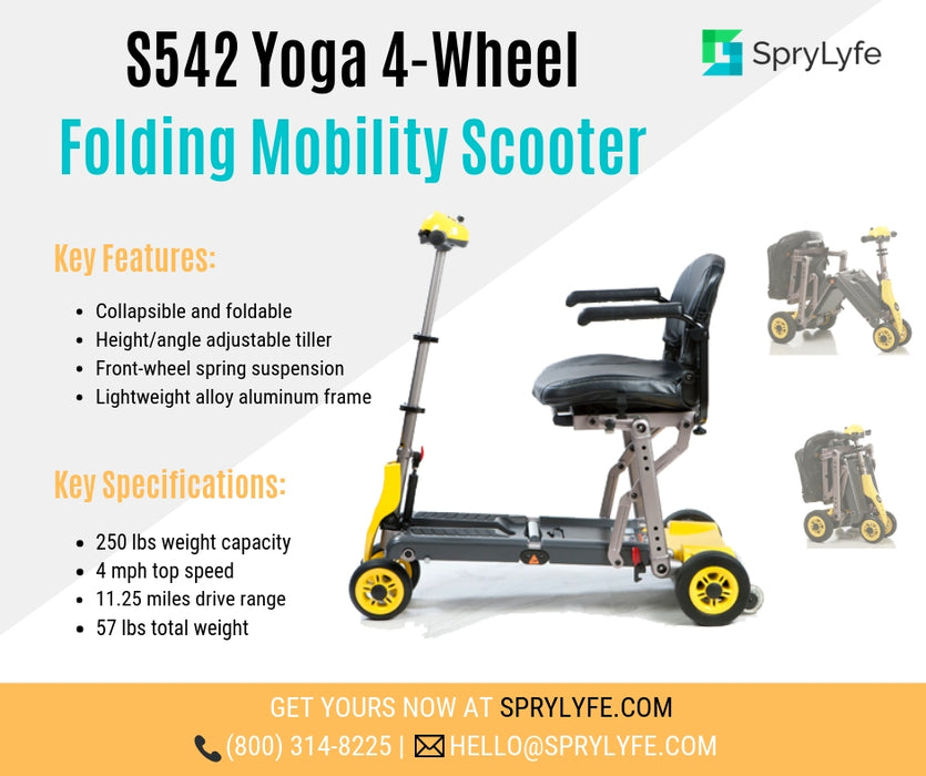 Merits Health S542 Yoga Folding 4-Wheel Mobility Scooter brochure