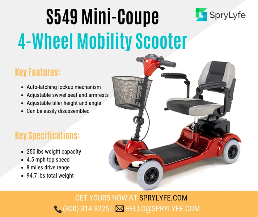 Merits Health S549 Mini-Coupe 4-Wheel Mobility Scooter brochure