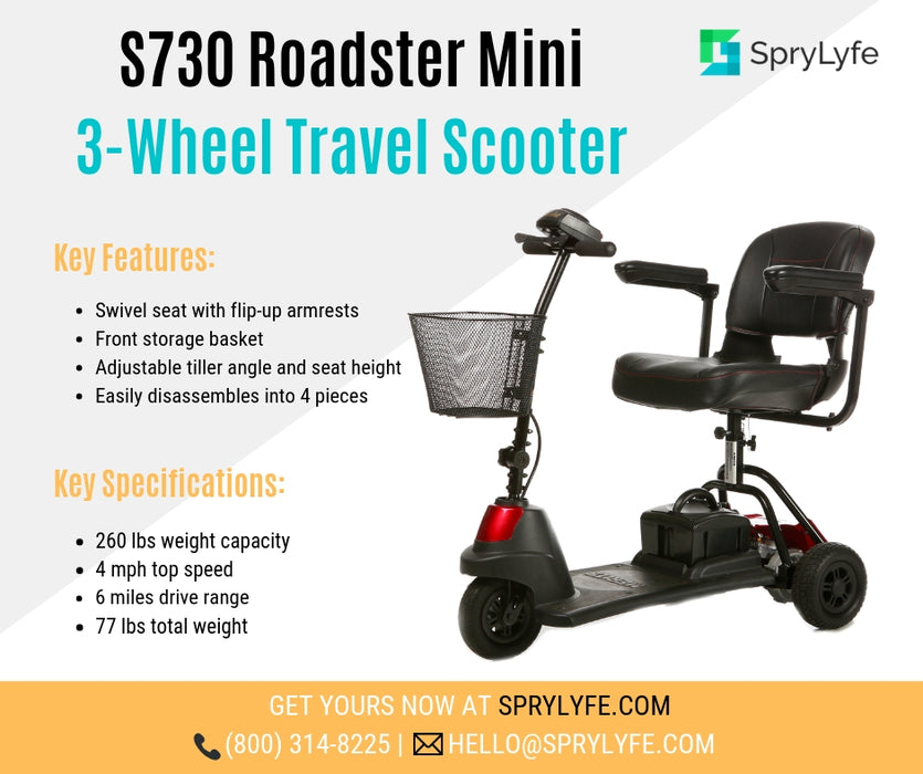 Merits Health S730 Roadster Mini 3-Wheel Travel Scooter brochure