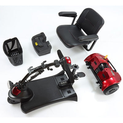 Merits Health S731 Roadster Deluxe 3-wheel travel scooter disassembled parts