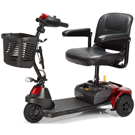 Merits Health S731 Roadster Deluxe 3-wheel travel scooter left angle view