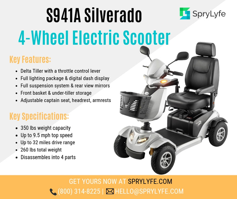 Merits Health S941A Silverado Full Suspension 4-Wheel Mobility Scooter brochure
