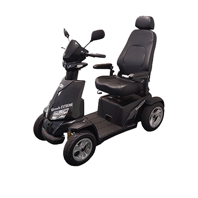 Merits Health S941L Silverado Extreme 4-Wheel Full Suspension Electric Scooter left angle view