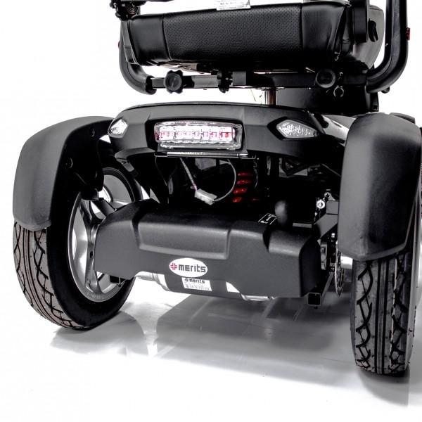 Merits Health S941L Silverado Extreme 4-Wheel Full Suspension Electric Scooter rear view