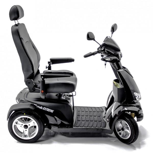 Merits Health S941L Silverado Extreme 4-Wheel Full Suspension Electric Scooter black right side view